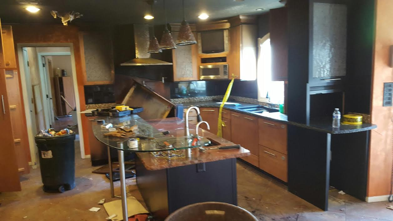 Kitchen Demolition & Cleanout Before